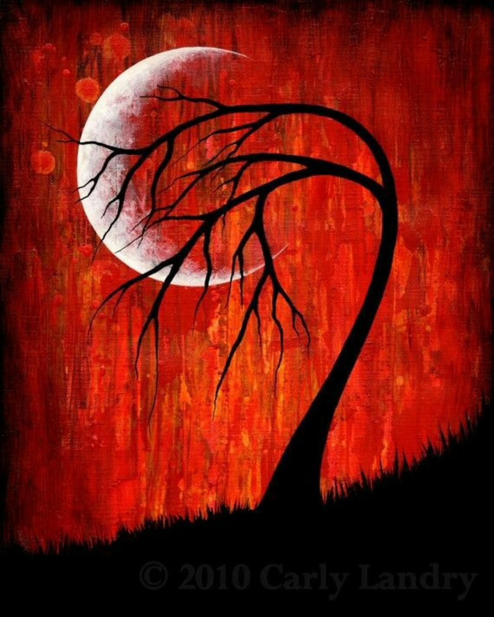 Trees often speak memories, dreams, and lessons. I've no doubt Fiver could have conversed with this one under a similar moon.