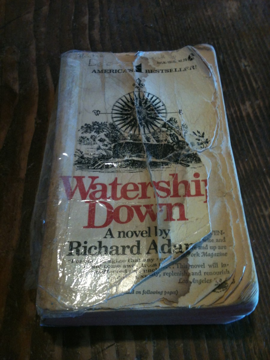 """My mother's copy of """"Watership Down,"""" well worn and well loved. I Iove the artwork."""