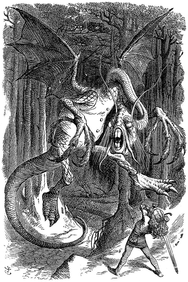 By John Tenniel - http://www.alice-in-wonderland.net/resources/analysis/poem-origins/jabberwocky/Copied from English Wikipedia., Public Domain, https://commons.wikimedia.org/w/index.php?curid=20137