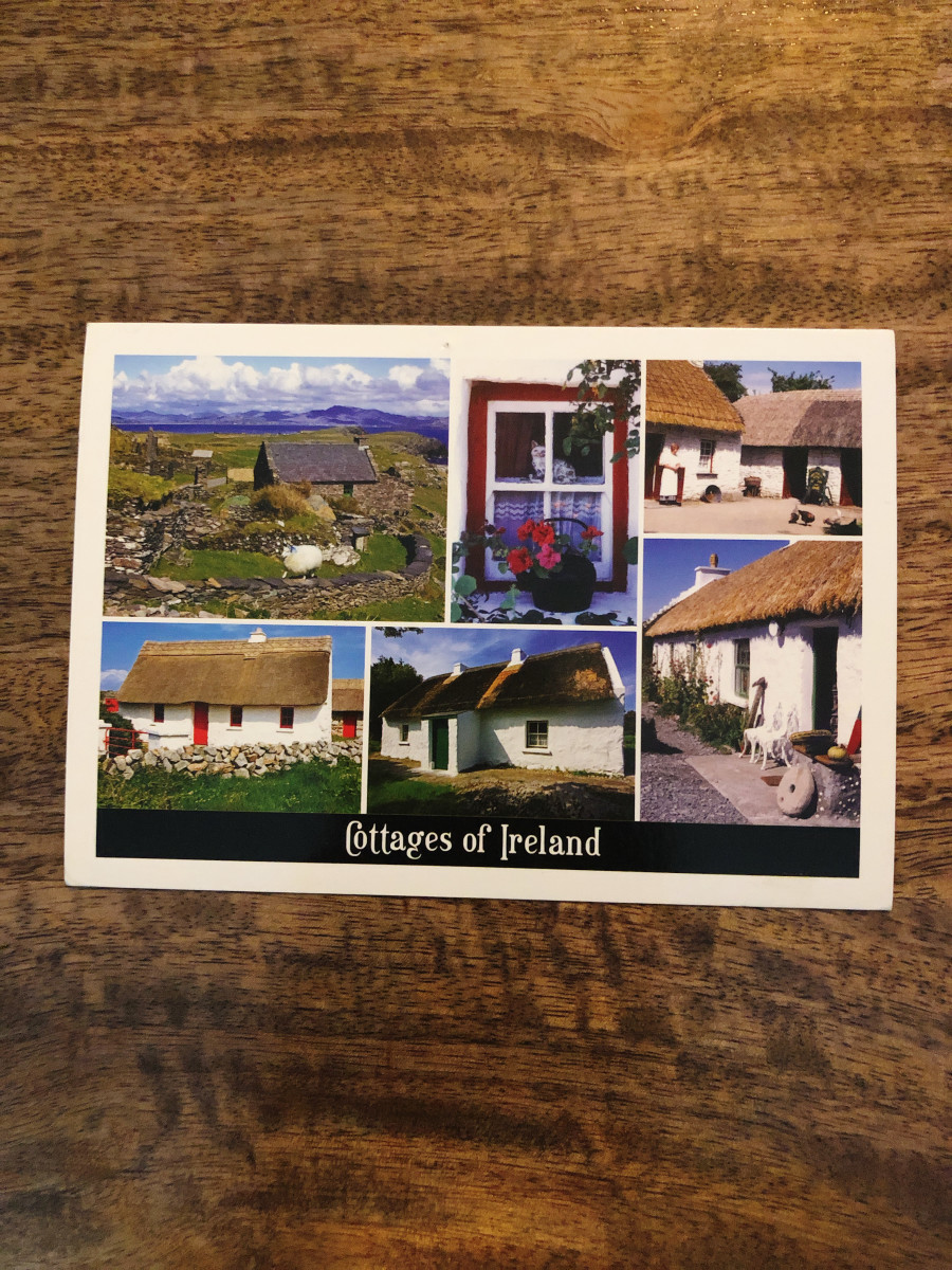 5. Ireland. I received this postcard from a colleague who traveled to Ireland for work. I love the cottages and the scenery from it was so beautiful.