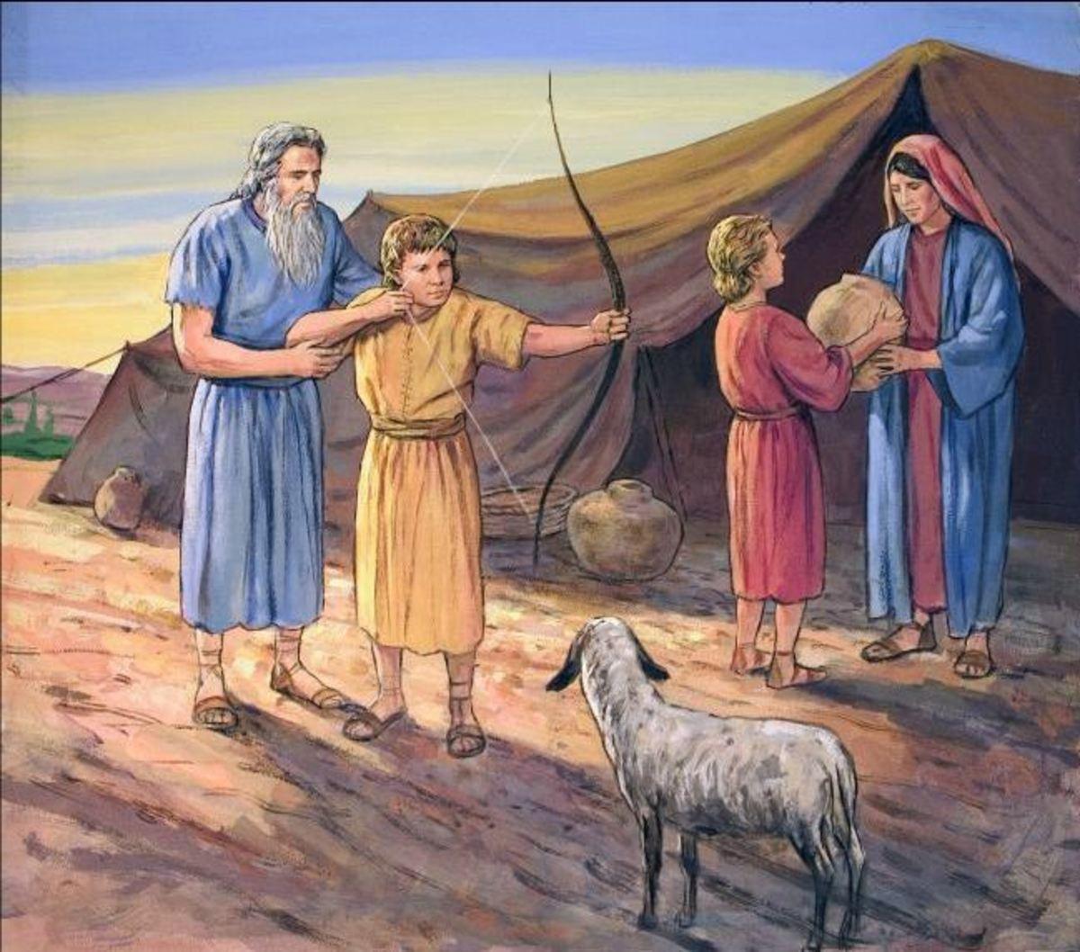 Isaac favored Esau and Rebekkah favored Jacob.