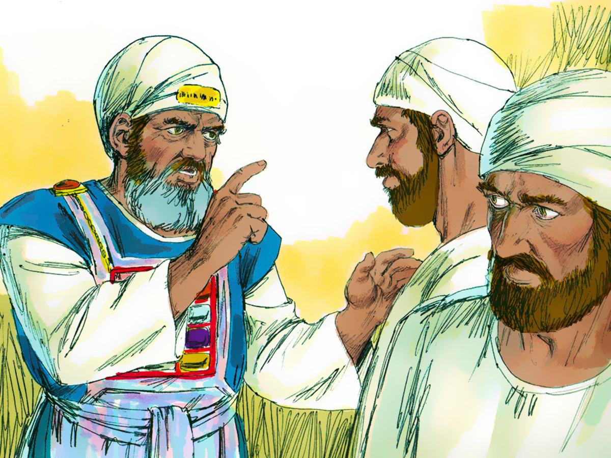 Samuel only scolded his sons for doing evil.