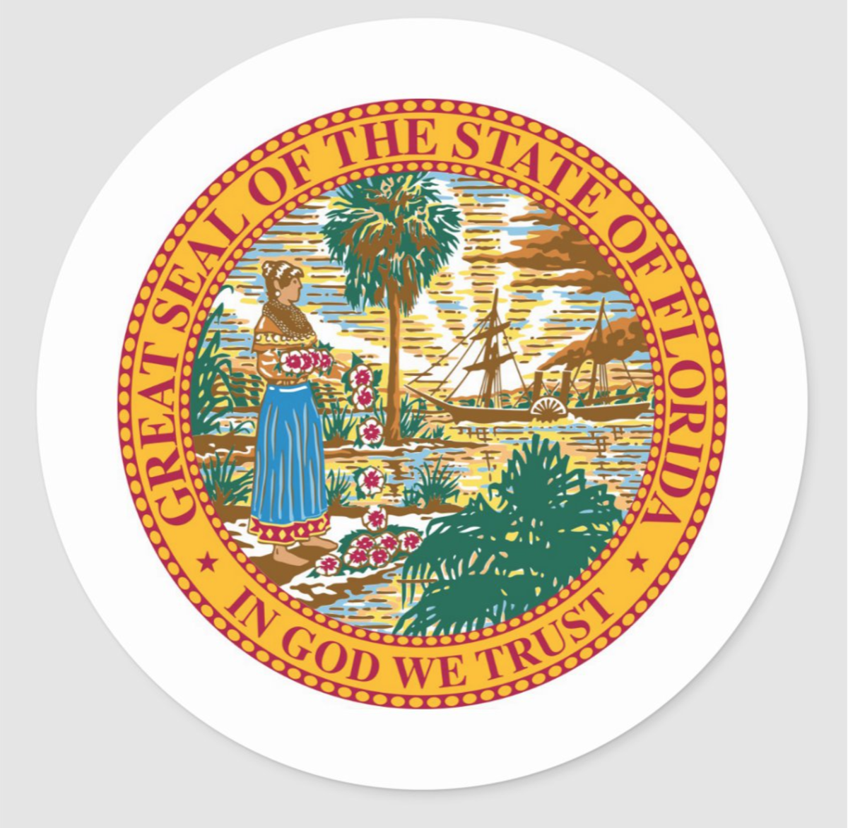 "In 2006 ""In God We Trust"" was adopted as the official motto of the State of Florida"