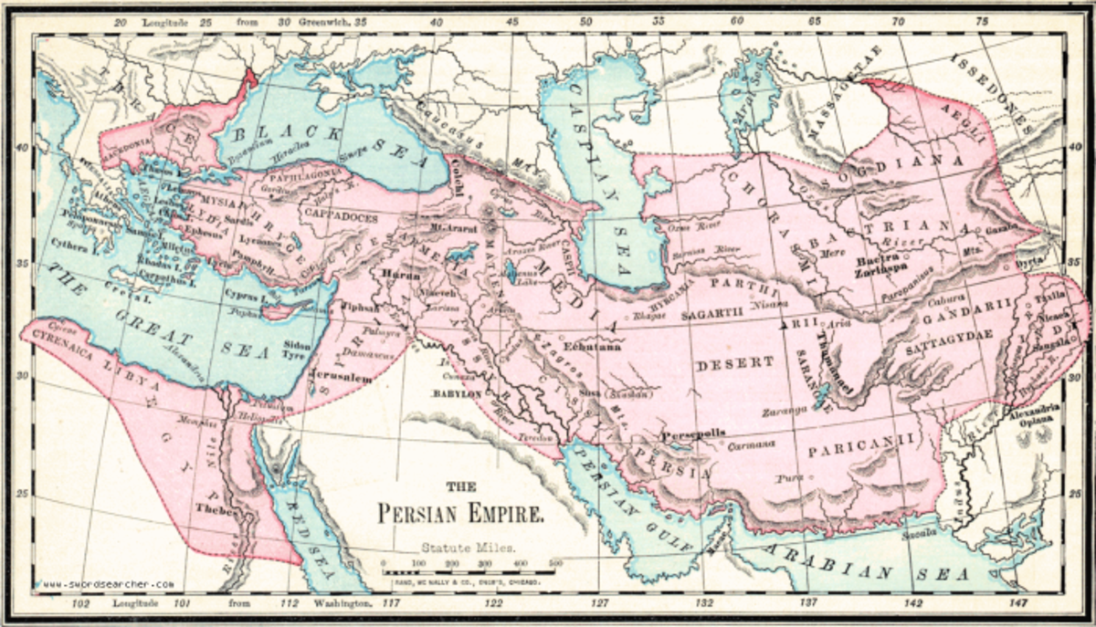 The Persian empire during the reign of Ahasuerus