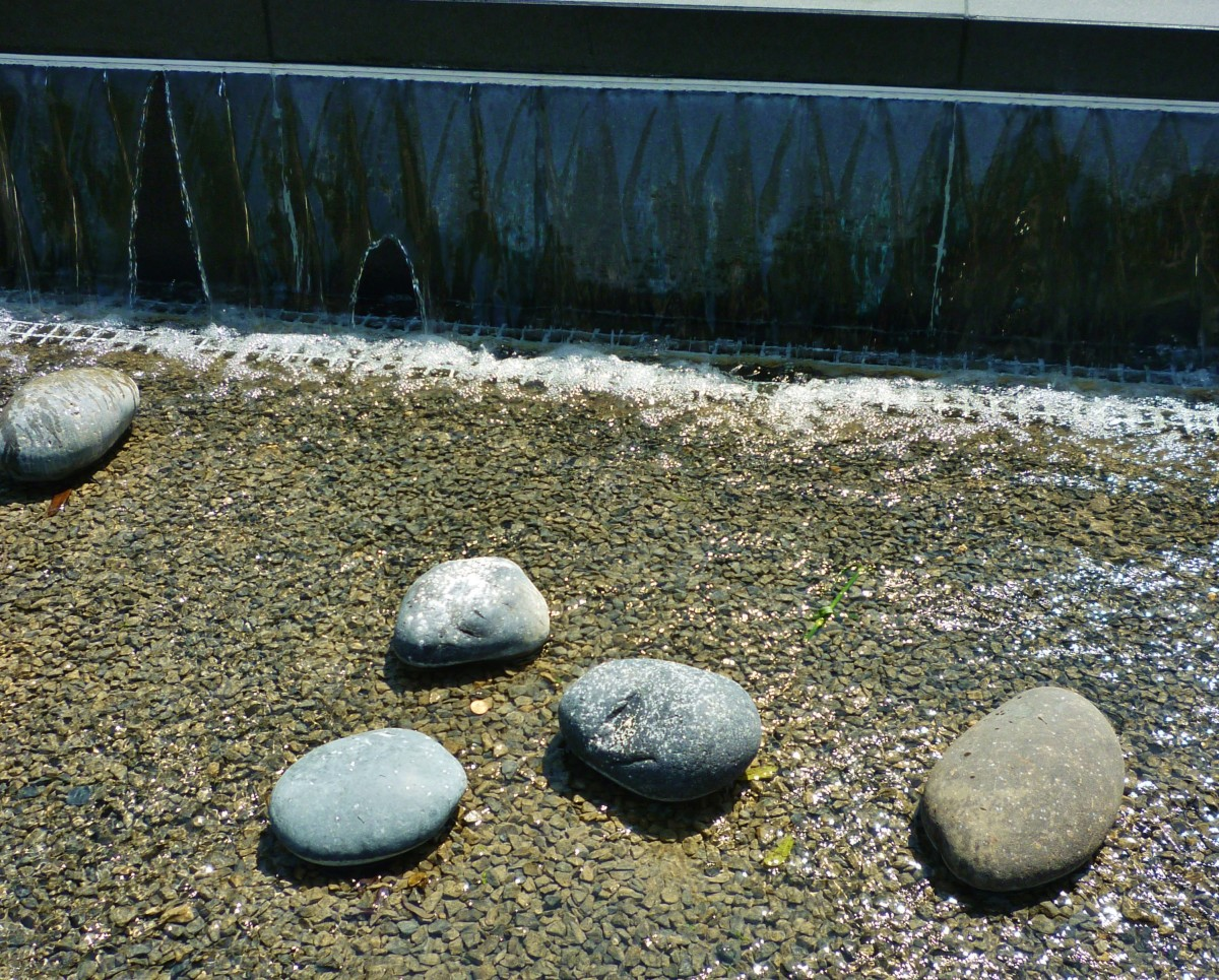 Lauren's Garden large stones represent lives lost on United Flight 93