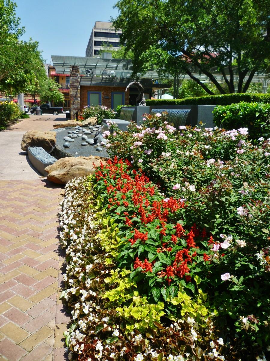 Side view of Lauren's Garden