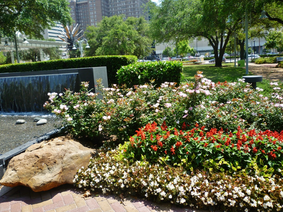 View of Lauren's Garden in Houston's Market Square Park