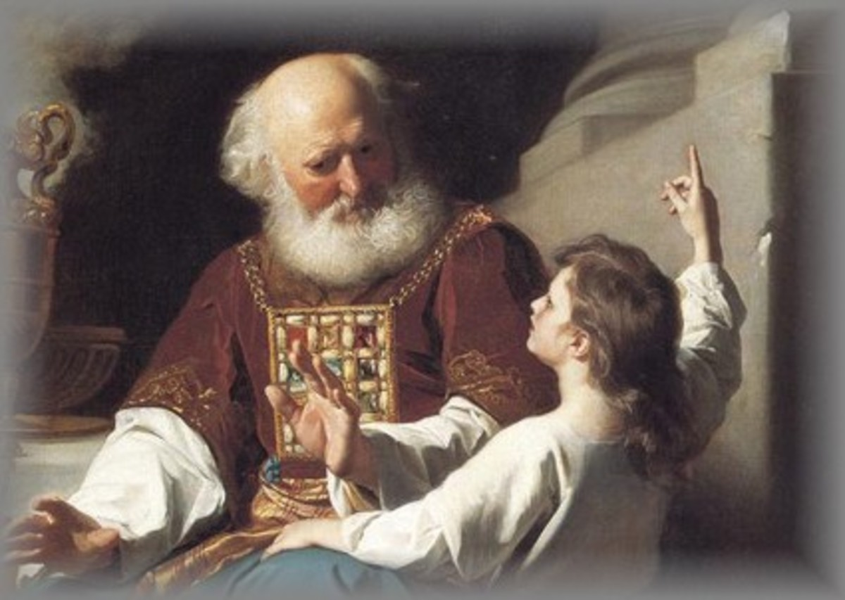 Eli, the priest of Shiloh along with young Samuel