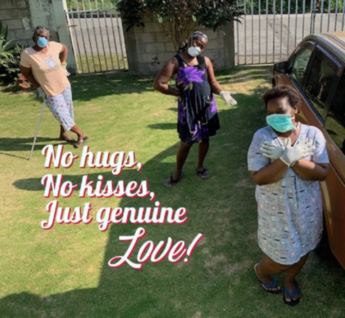 No hugs, no kisses, just genuine love.