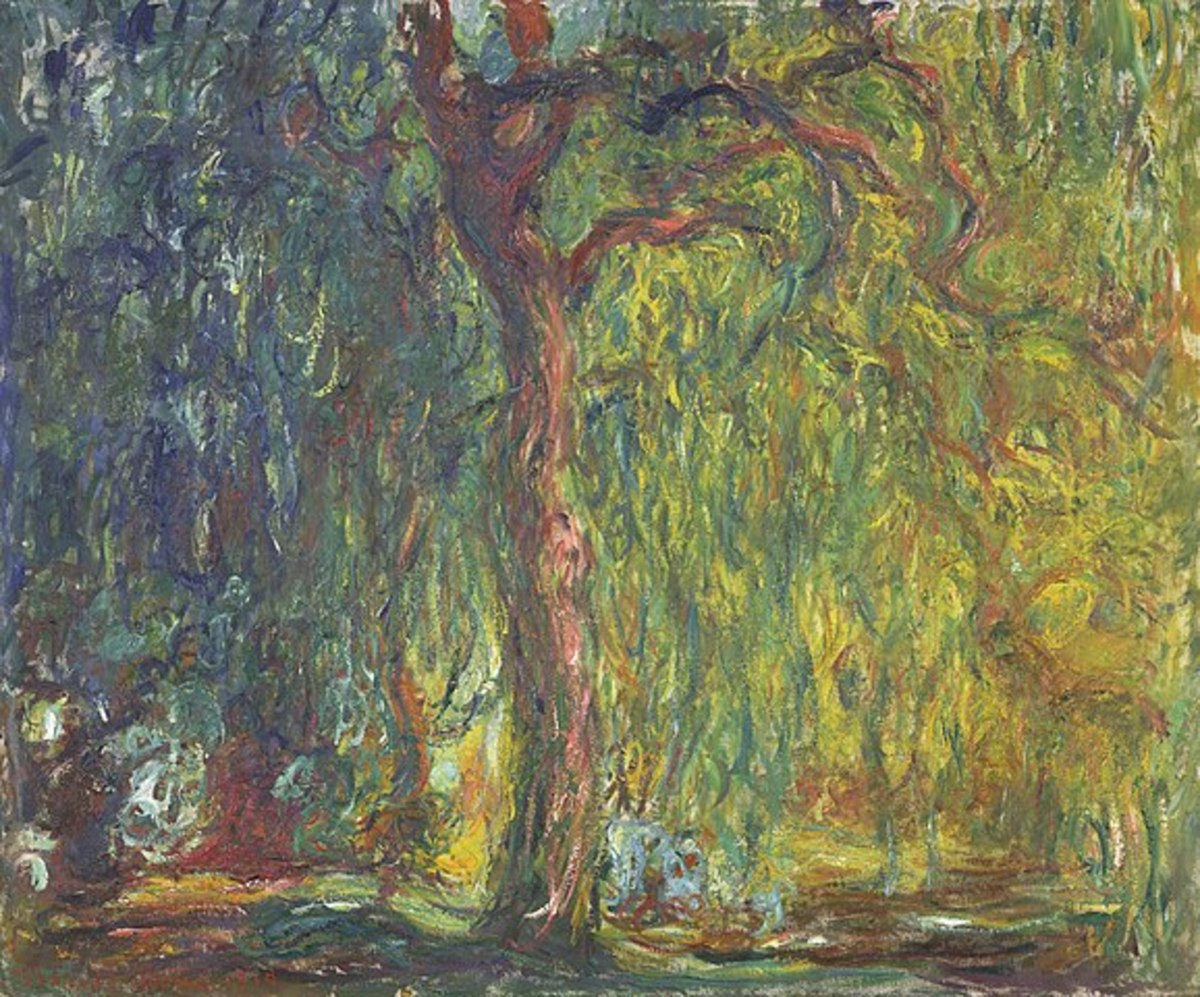Another version of the Weeping Willow Tree by Claude Monet, 1918 - 1919.