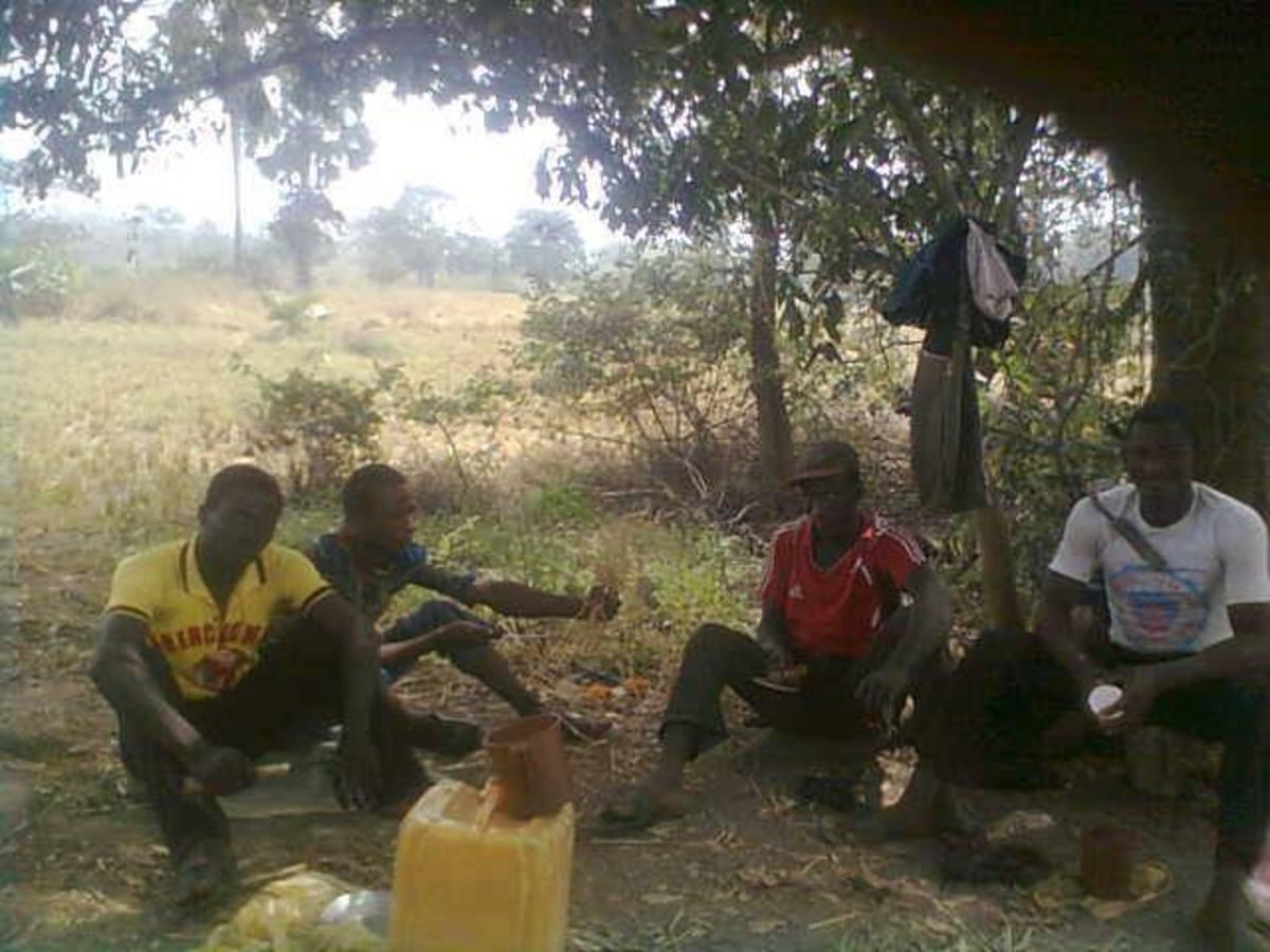 Local Farmers Resting