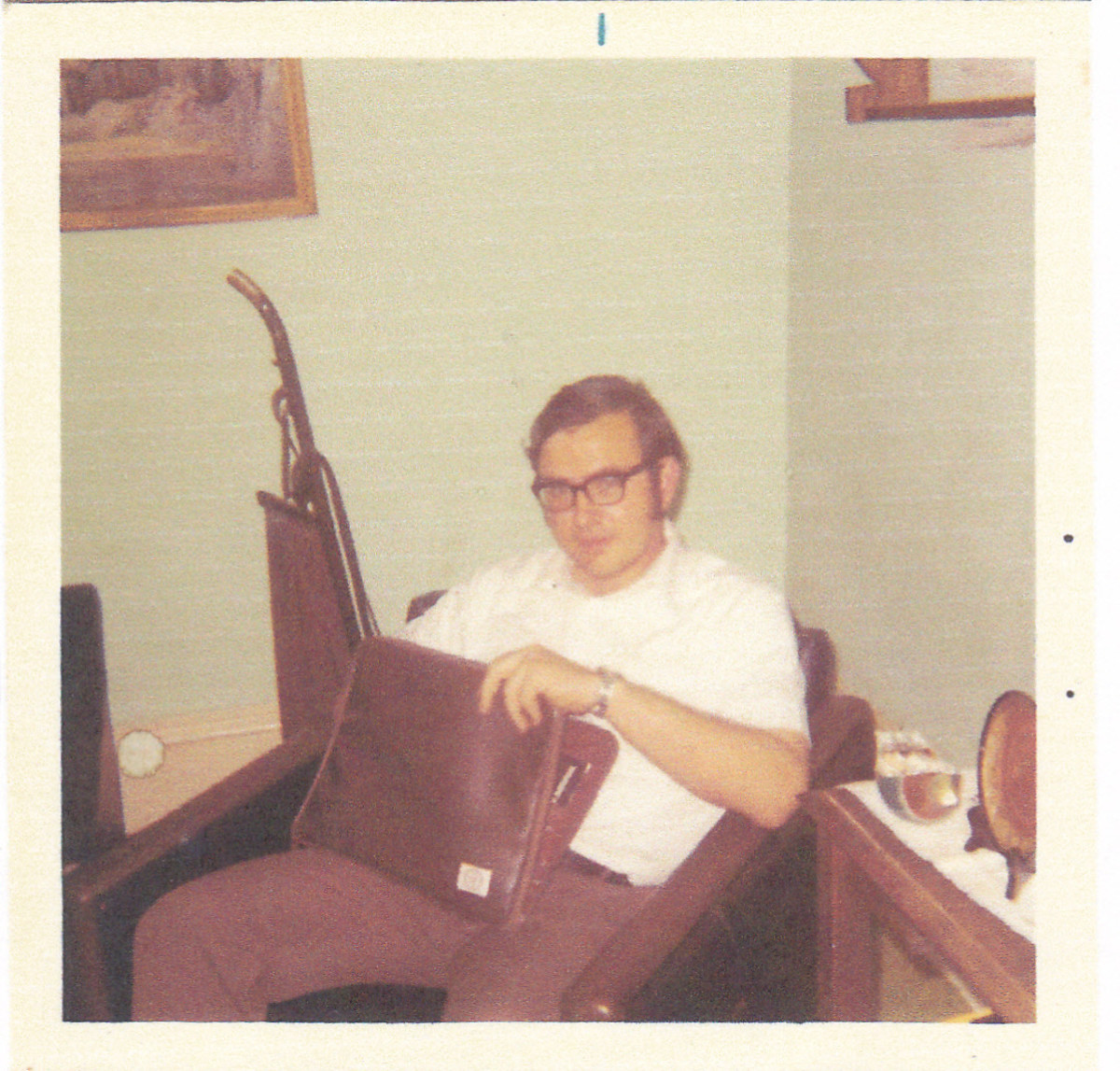 Author at home in 1972