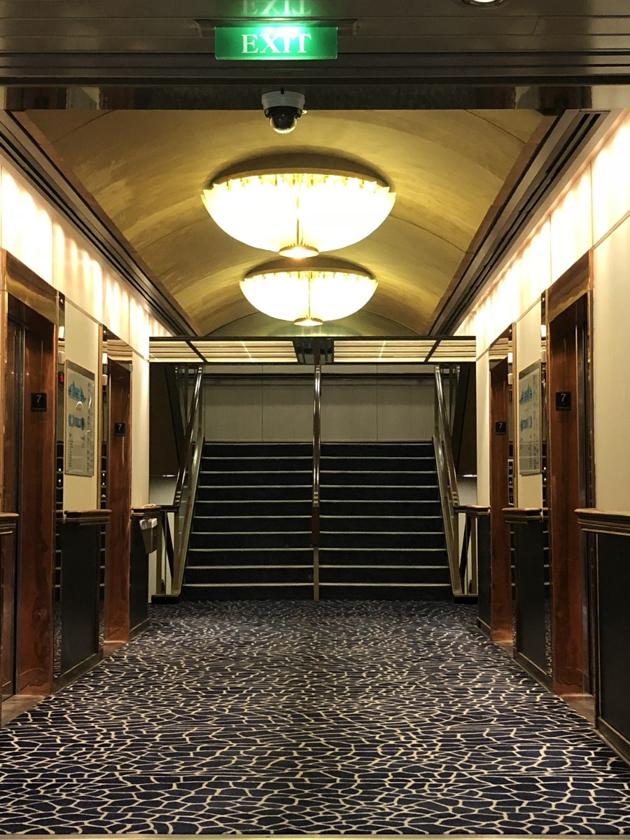 The ship's elevators