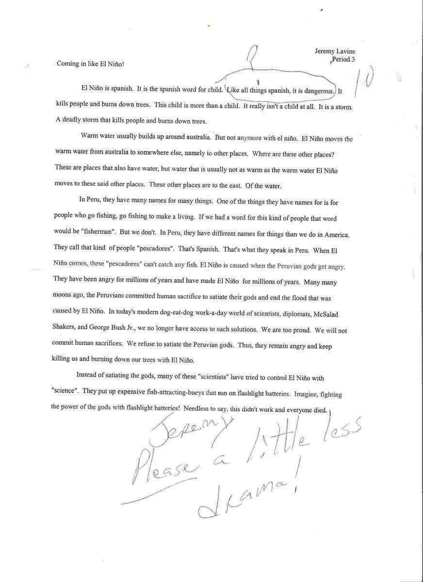 Jeremy's essay