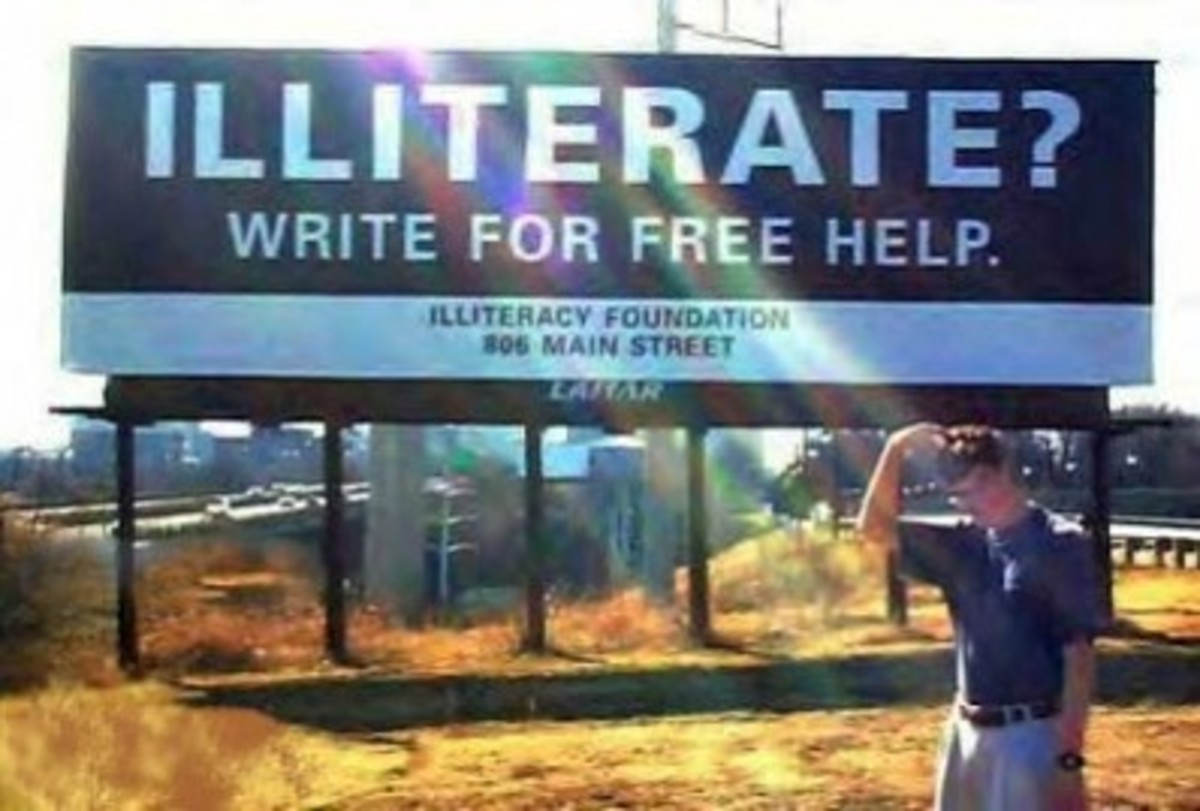 "(Kind of misses the point about being ""illiterate."")"