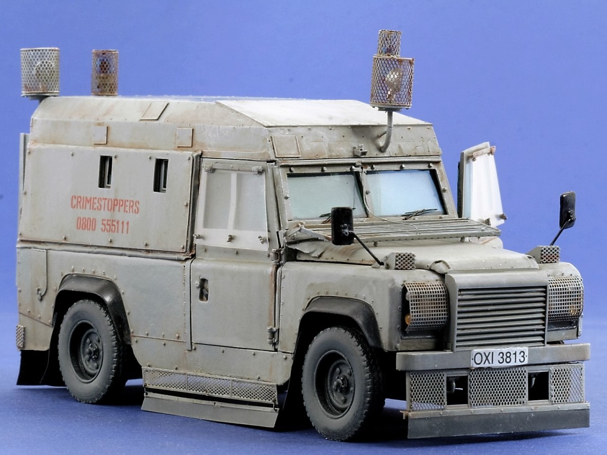 The armoured RUC vehicle