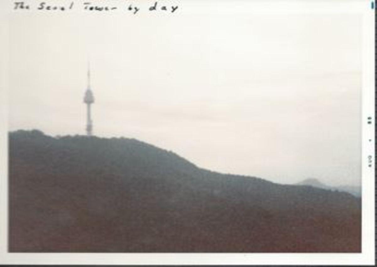Namsan Mountain, Seoul Korea, August 1985.
