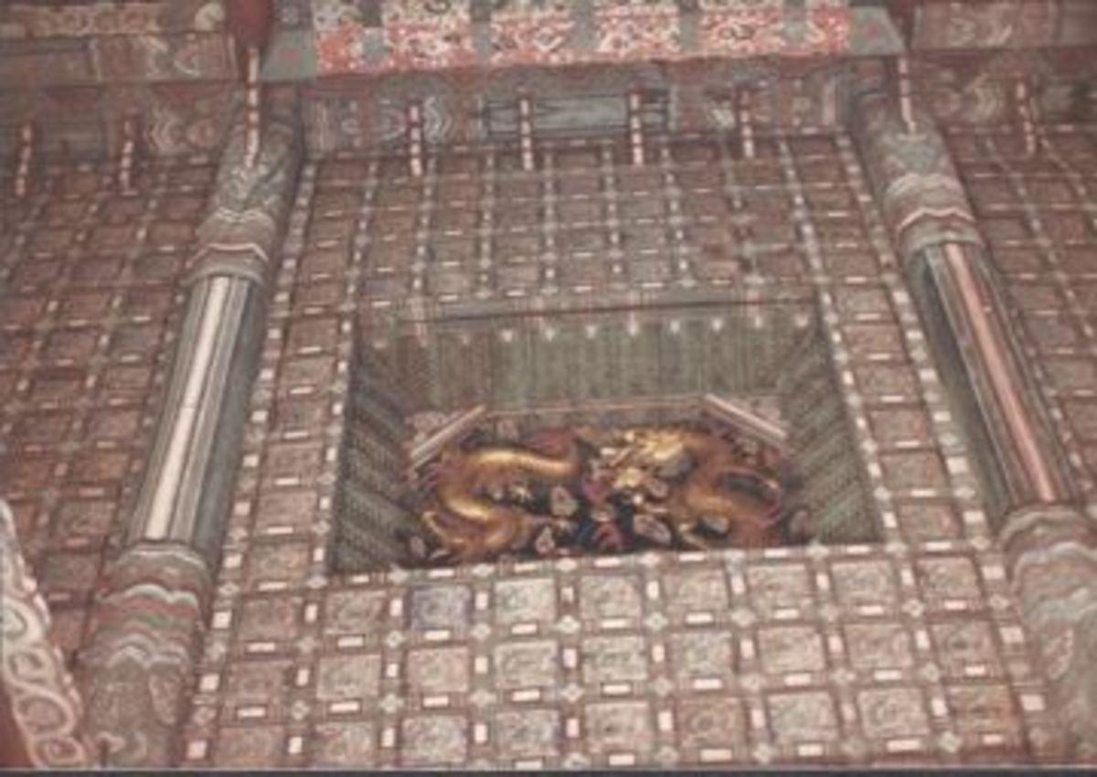 Ceiling ornamentation.