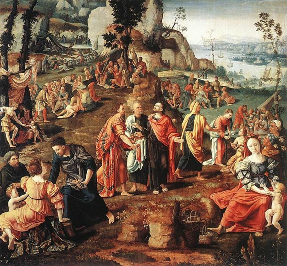 Painting of Feeding of Five Thousand