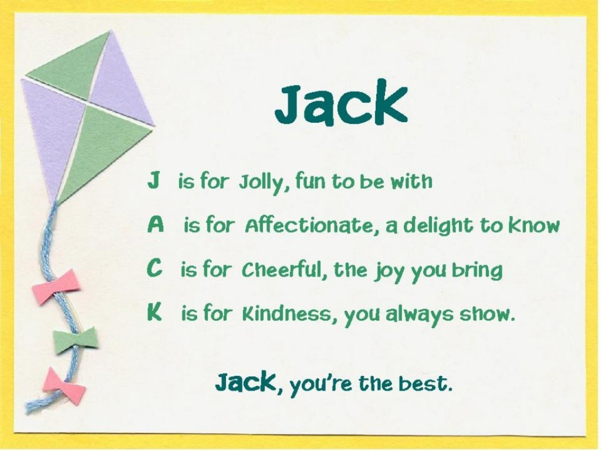Acrostic Name Poems For Boys Hubpages