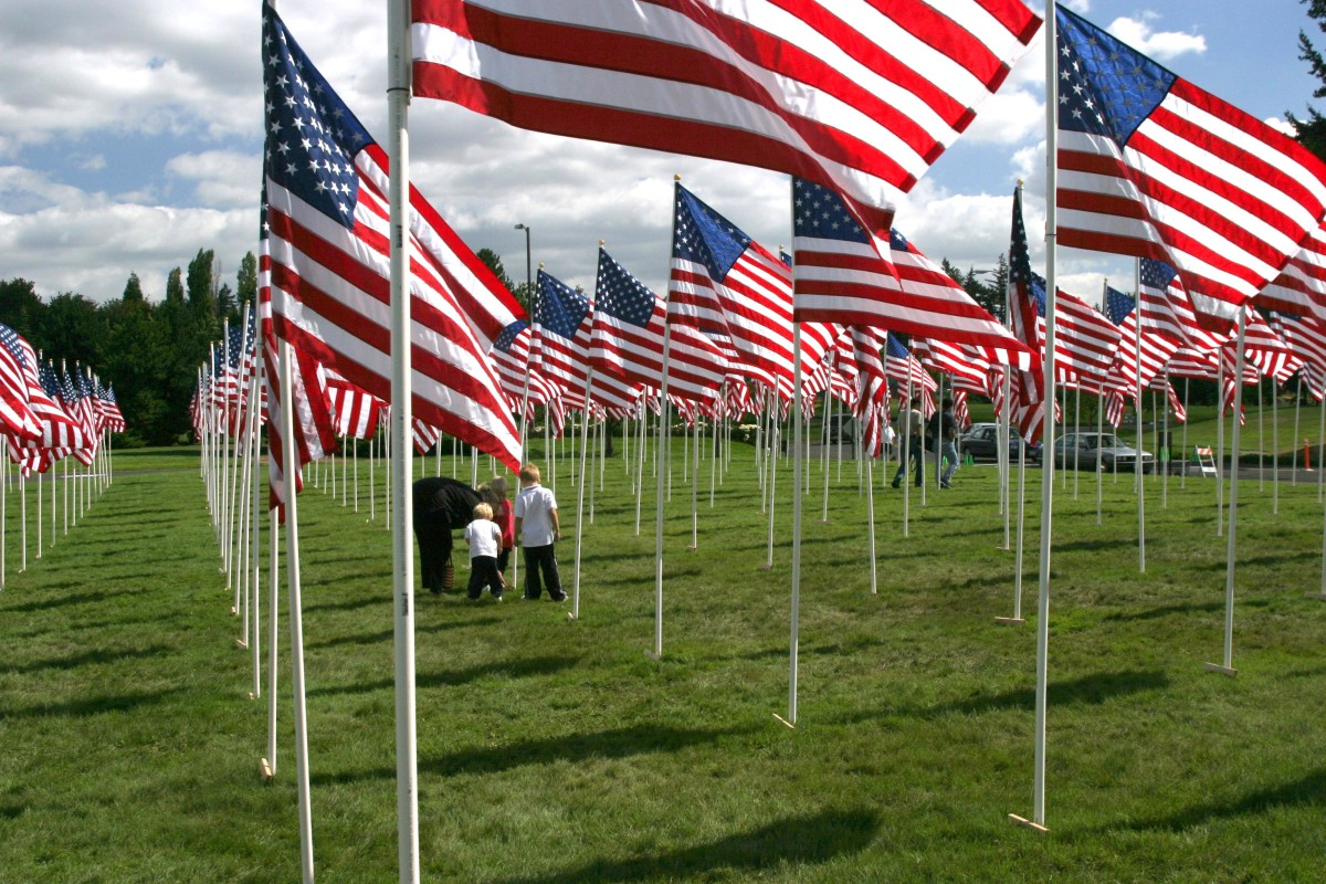 Let's not forget what the American Flag represents. Photo credit  David Gaylor