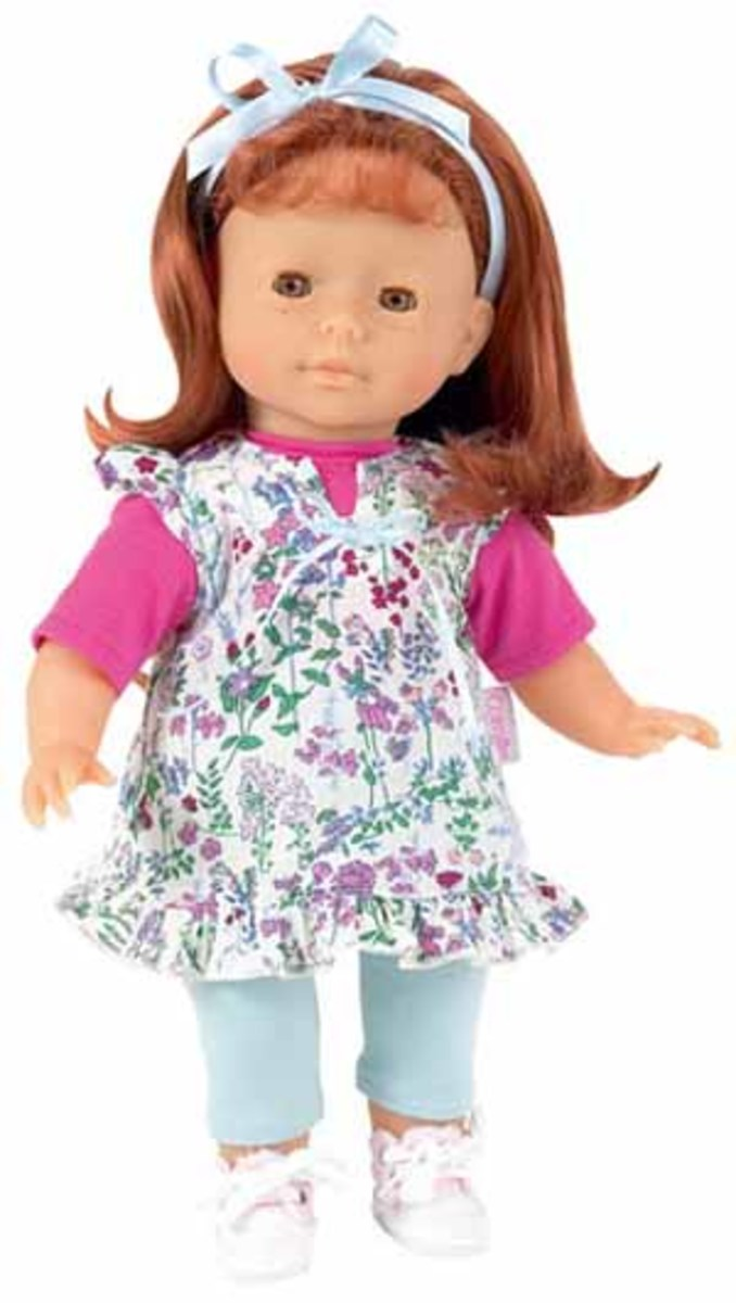 An adorable redhead doll with freckles!