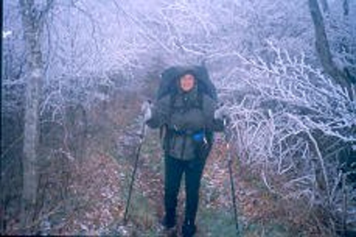 Me in the Smokies after an ice storm
