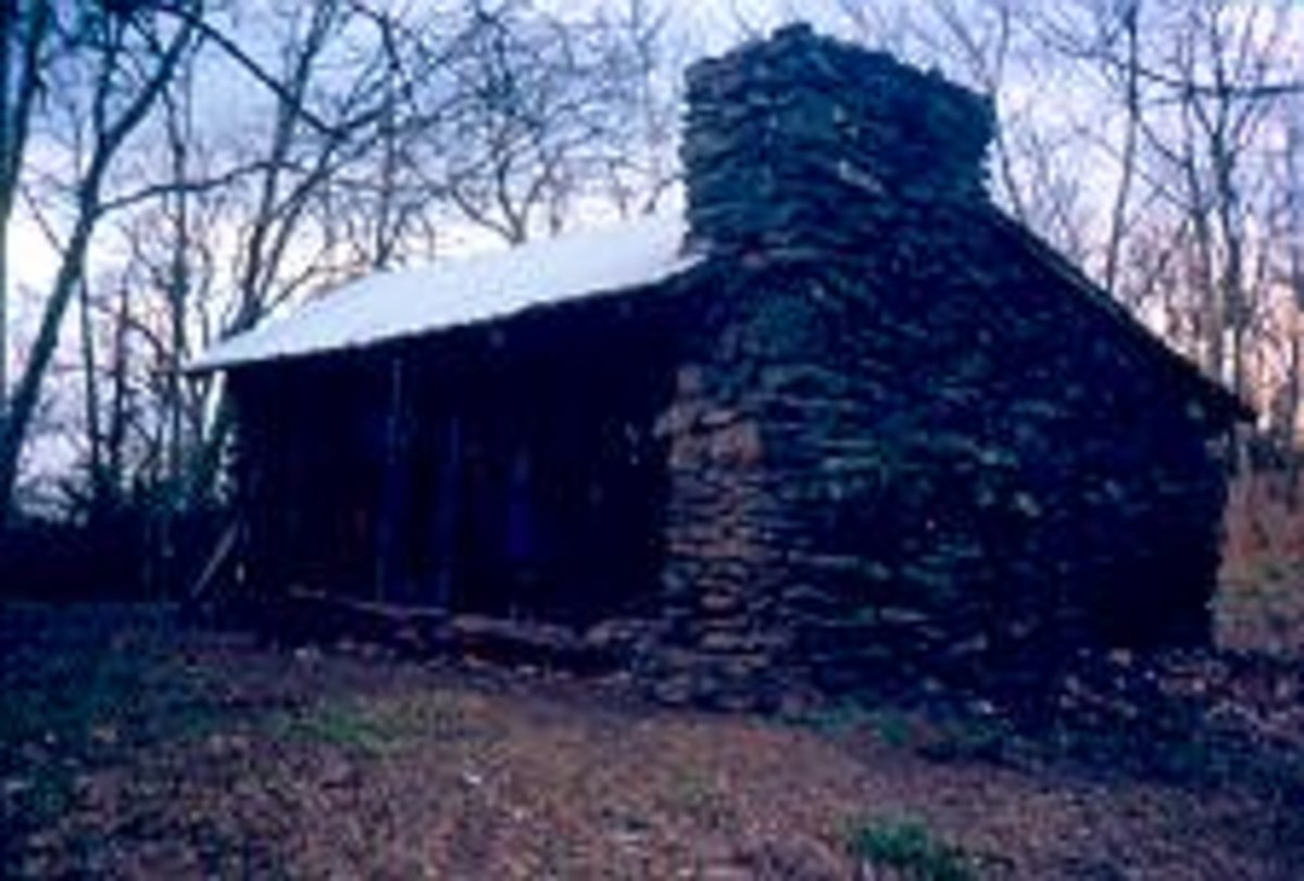 A hiker shelter in the Smokey Mountains