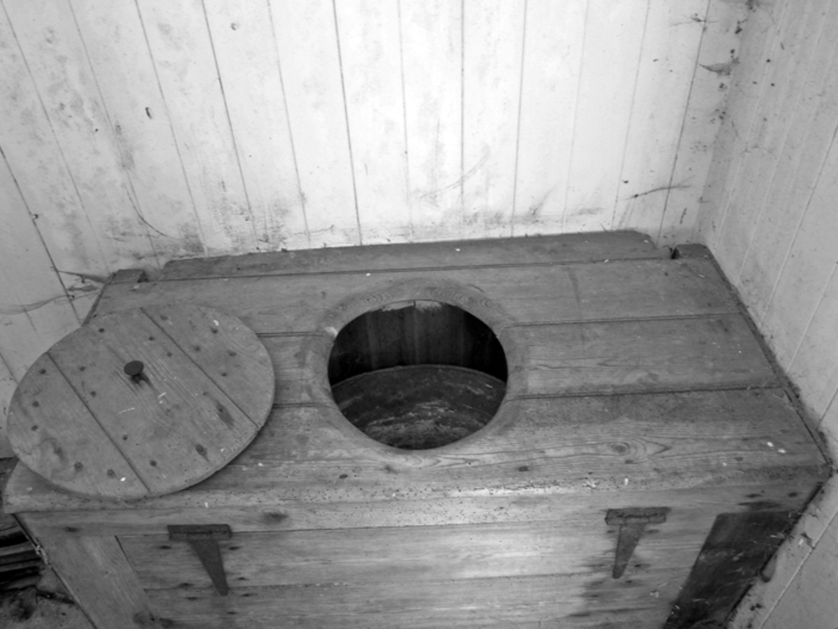 The outside toilet this looks very similar to the one at my nana's house.