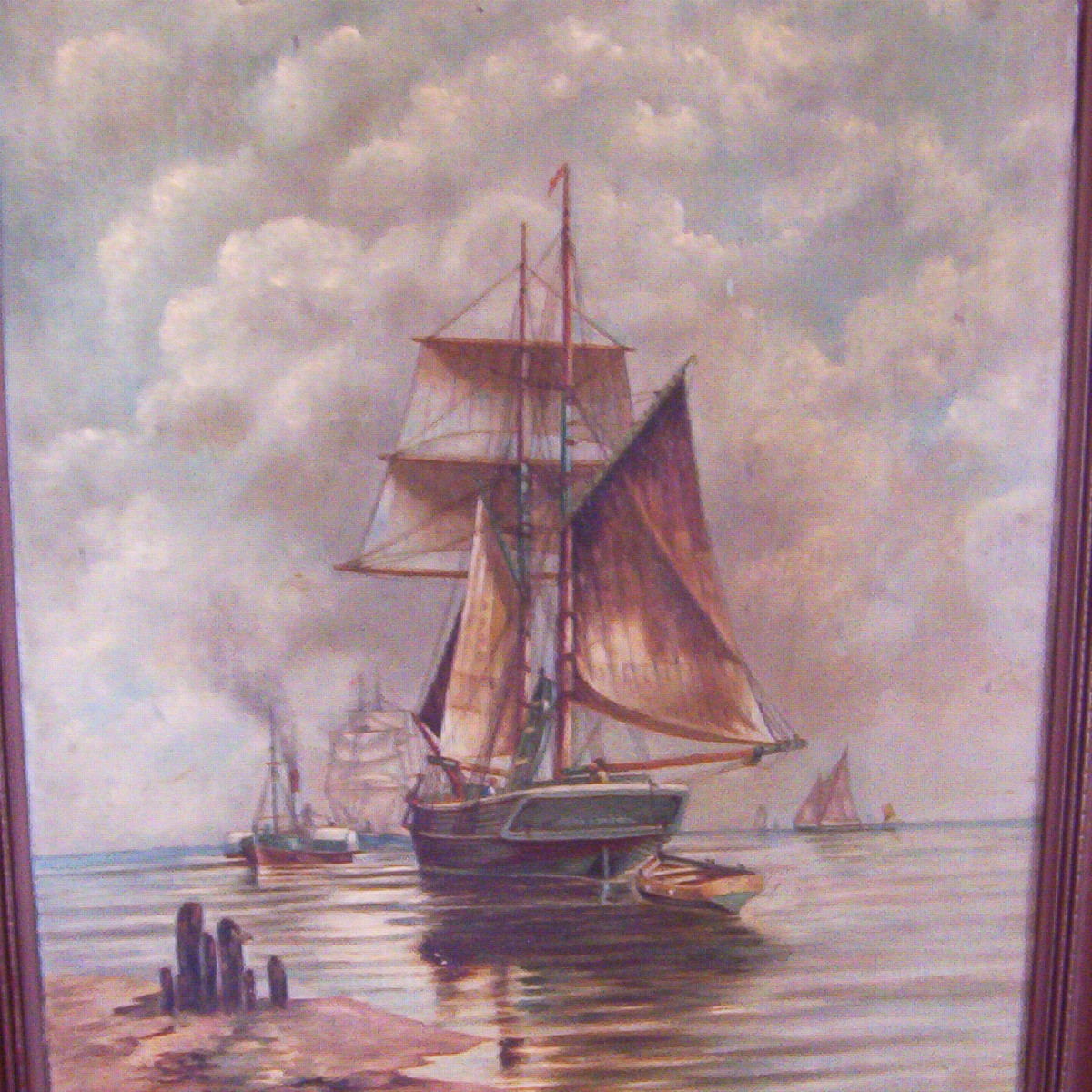 Sailing ship by Alfred Cookman Leach, photo by Dolores Monet