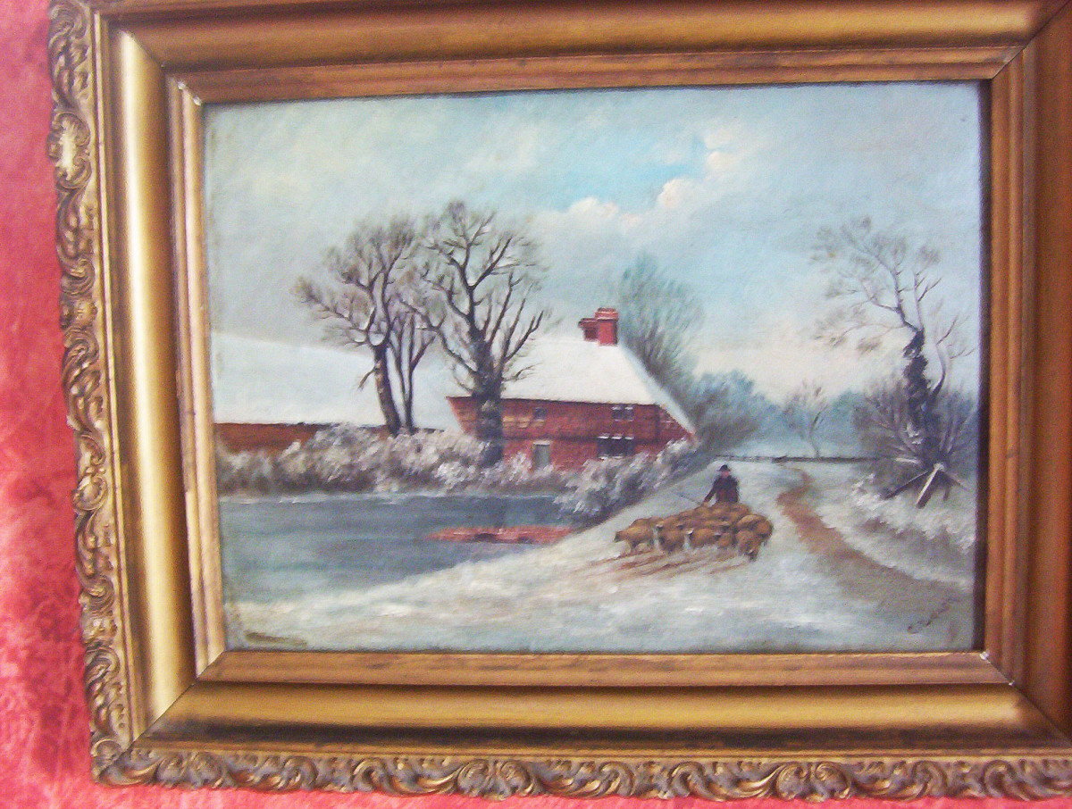 Painting by Alfred Cookman Leach, photo by Dolores Monet