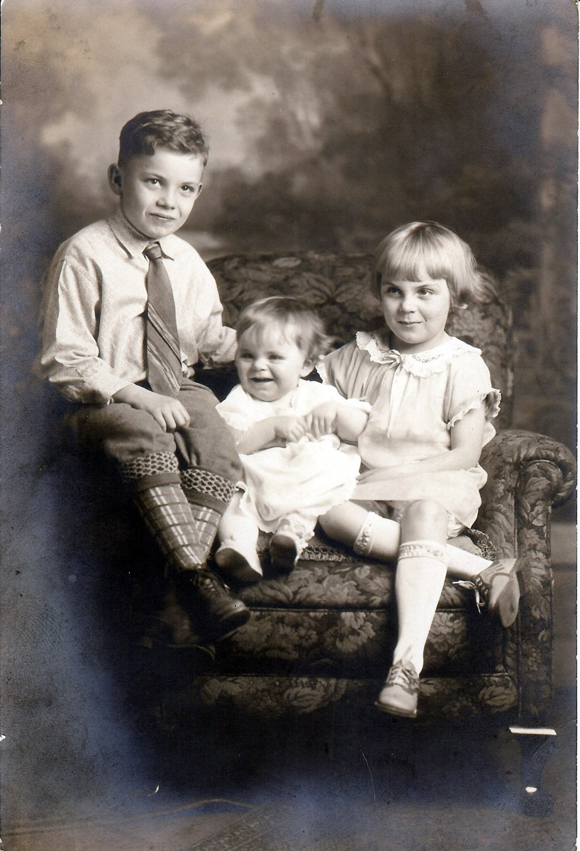 My mother with her older sister and brother