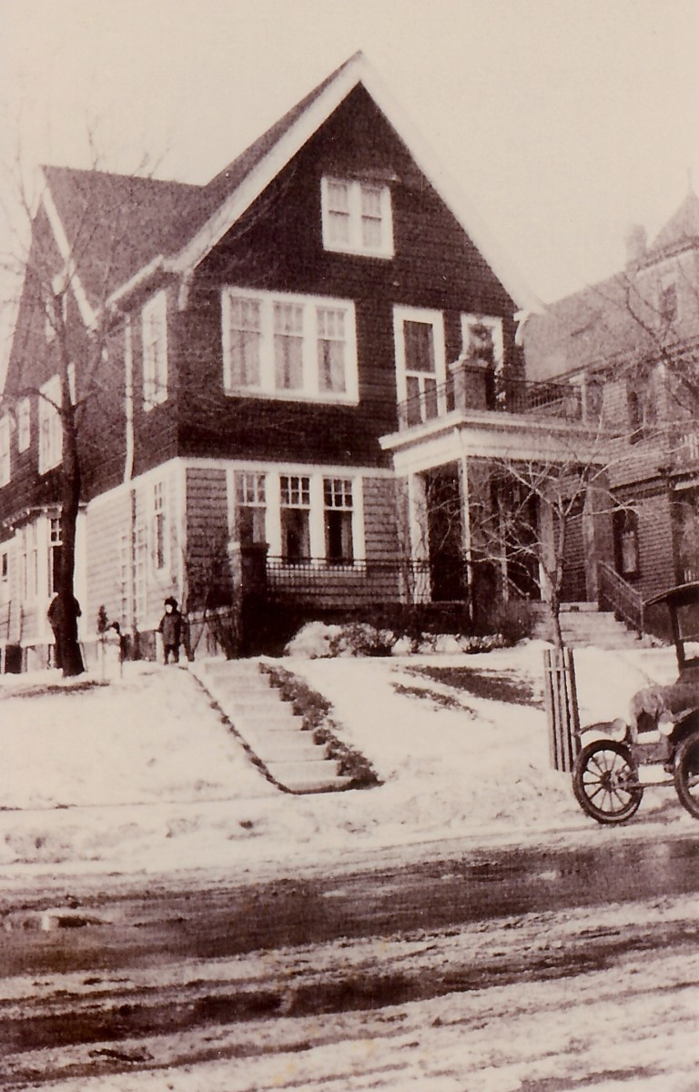 Early years spent in this home on 40th Street in Milwaukee