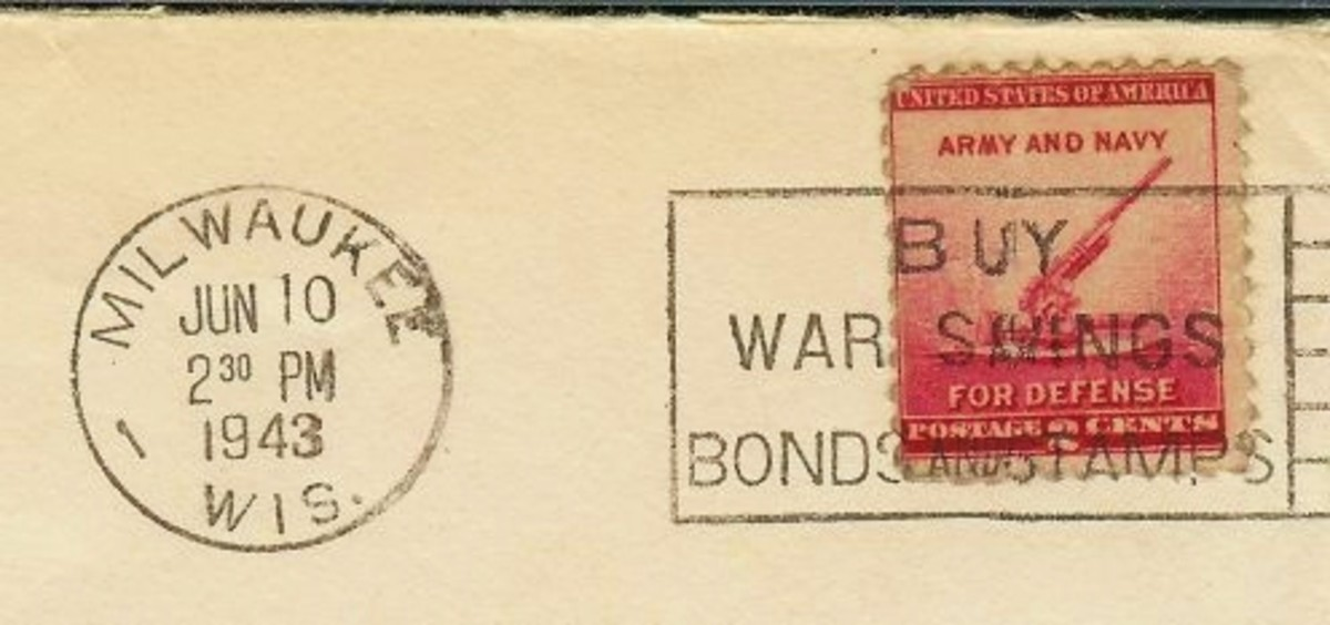 Stamp on envelope from that day and time.