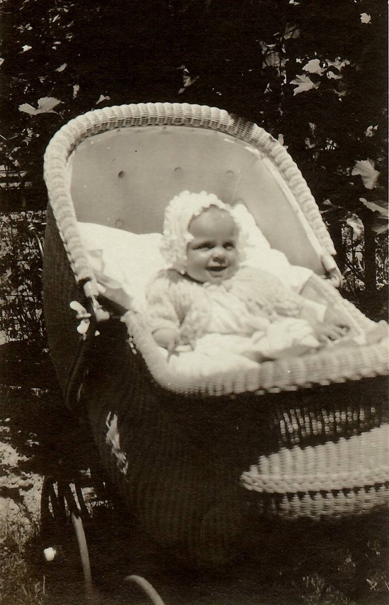 My mother in her baby carriage