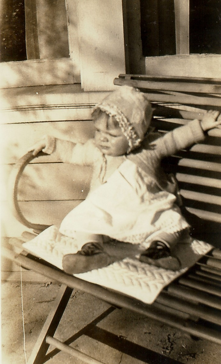 My mother at age 1