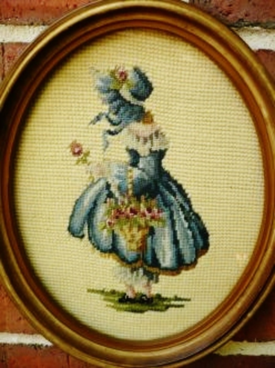 The other one of a set of needlepoint pictures made by my grandmother.