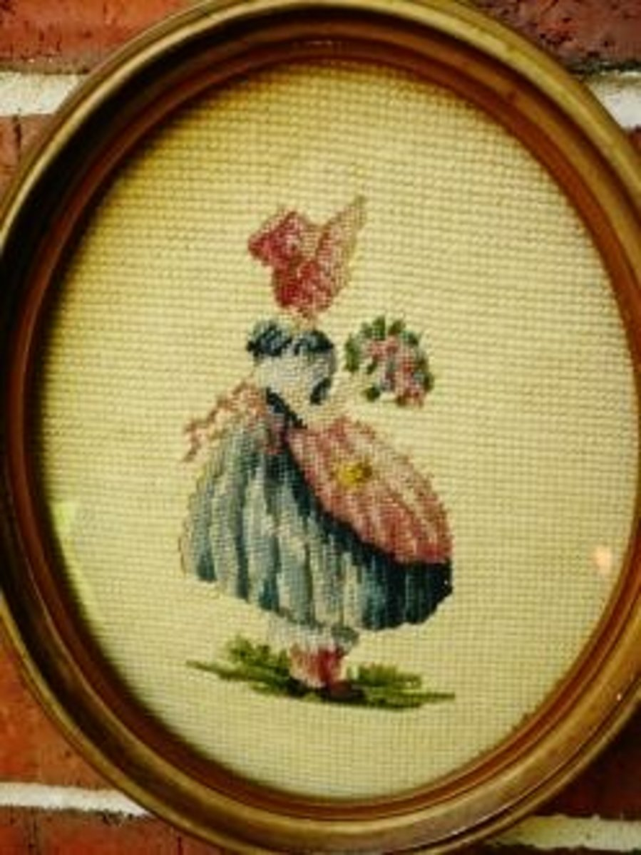 Some needlepoint done by my grandmother.
