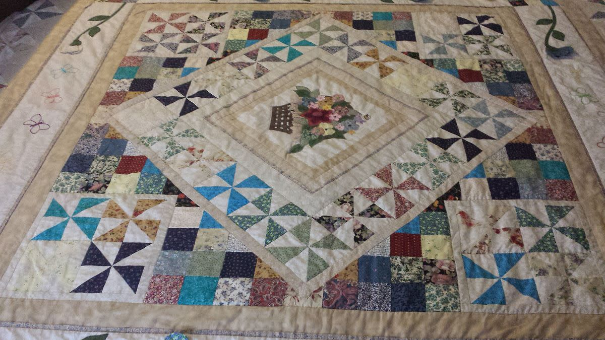 handmade quilt for a queen size bed