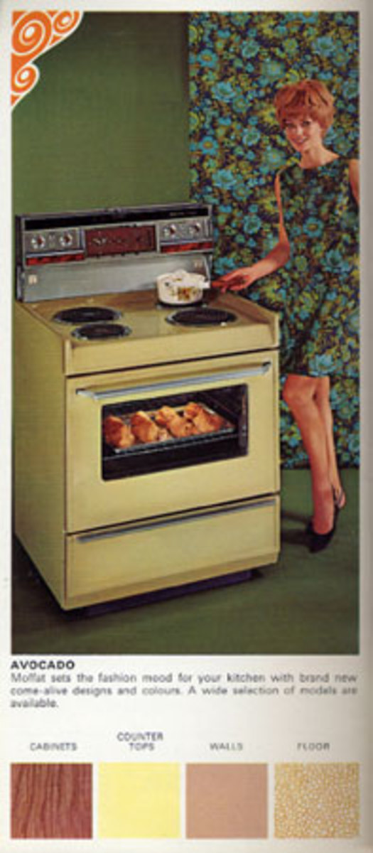 Harvest Gold Stove