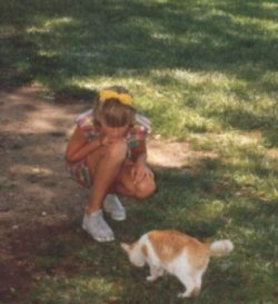 Sarah has always related to animals better than people. This cat was at the zoo.