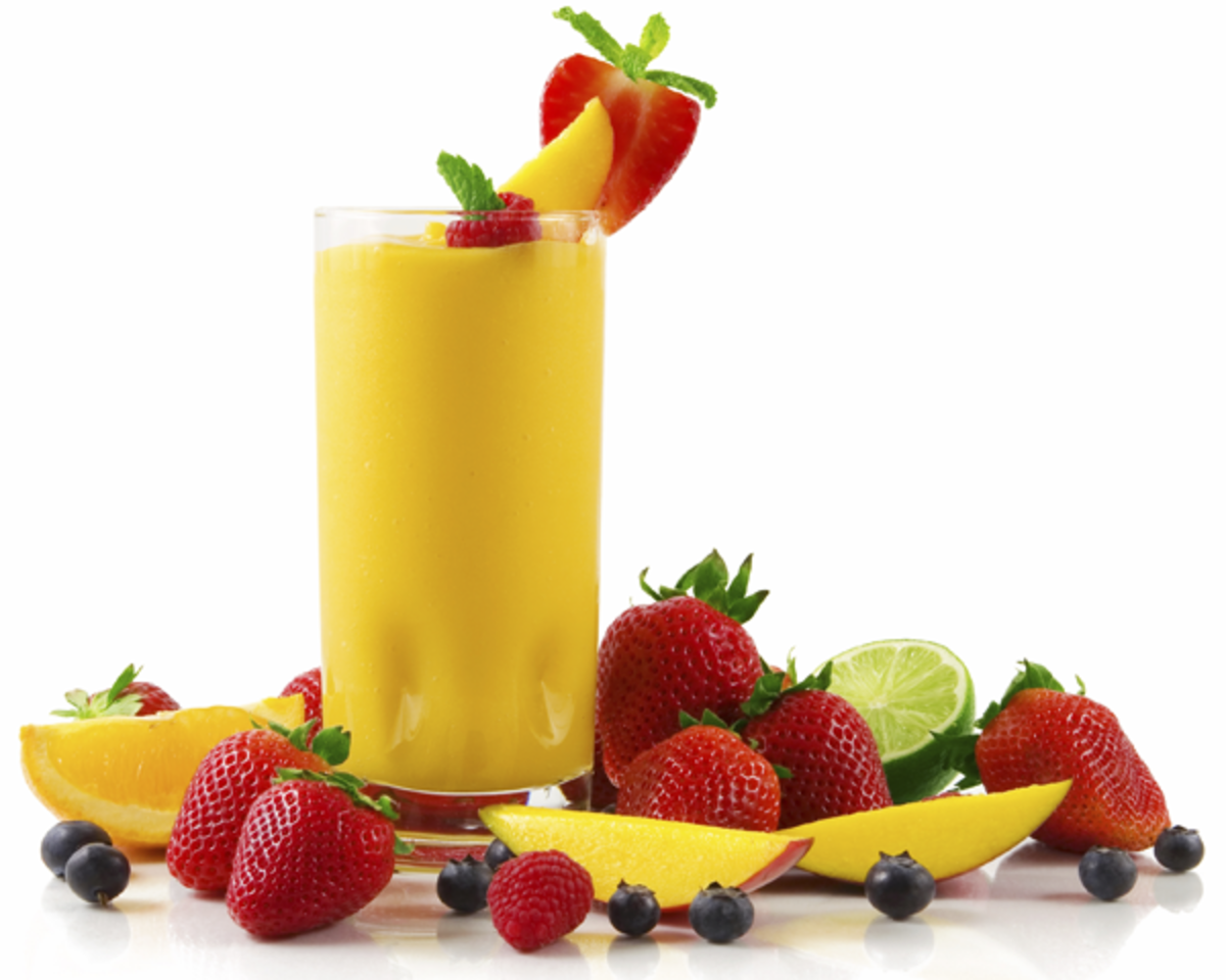 A Refreshing Mango Smoothie