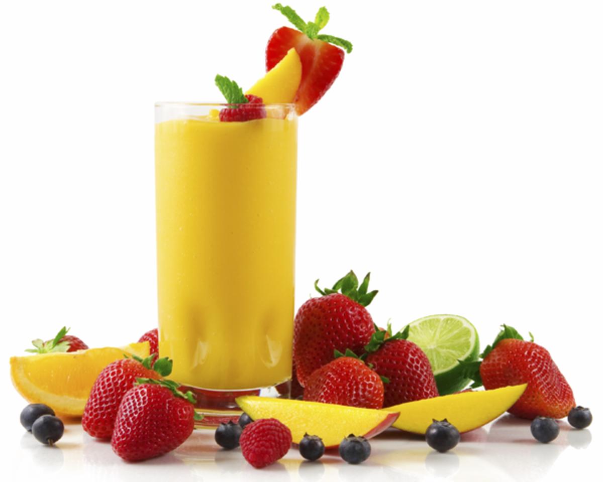 A Refreshing Mango Smoothie