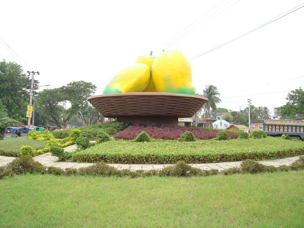 The Mango Roundabout in Rajshahi City, Bangladesh