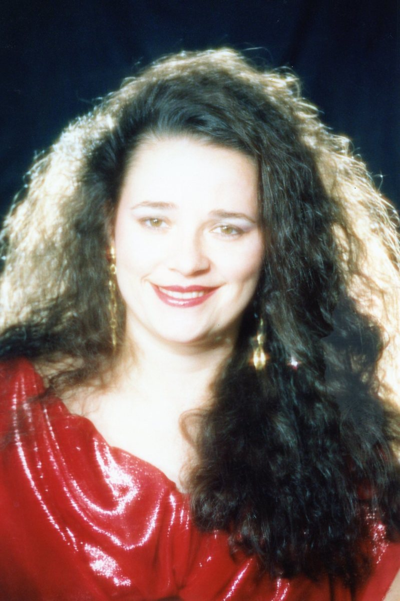 My glamour photo with my spiral perm about age 30.  I only looked glamorous for about an hour.