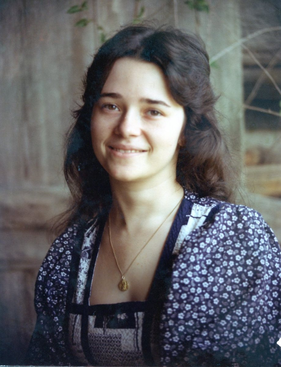 My High School Senior picture.  Lots of long hair behind me.