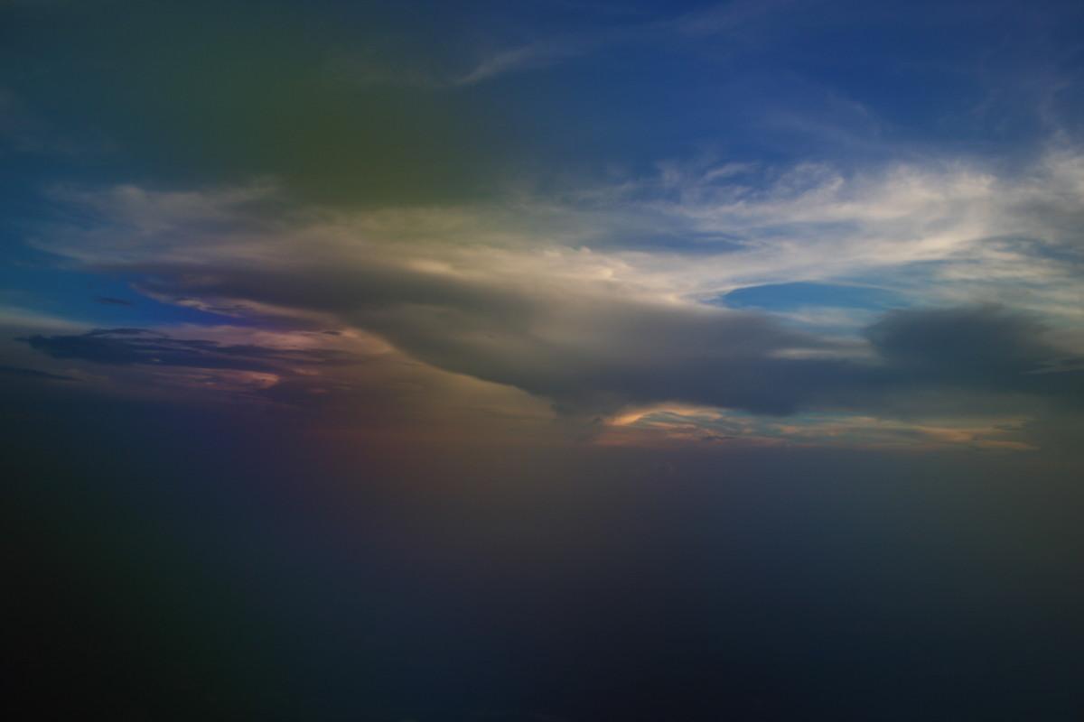 Sunset with Rainbow over Breckenridge