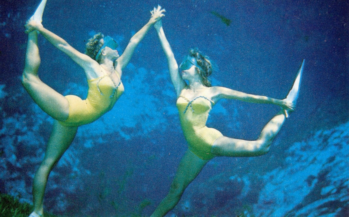 Vintage Postcard of Mermaids from Weeki Wachee, Florida
