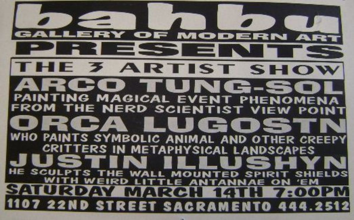 Flyer for Arco's last art show