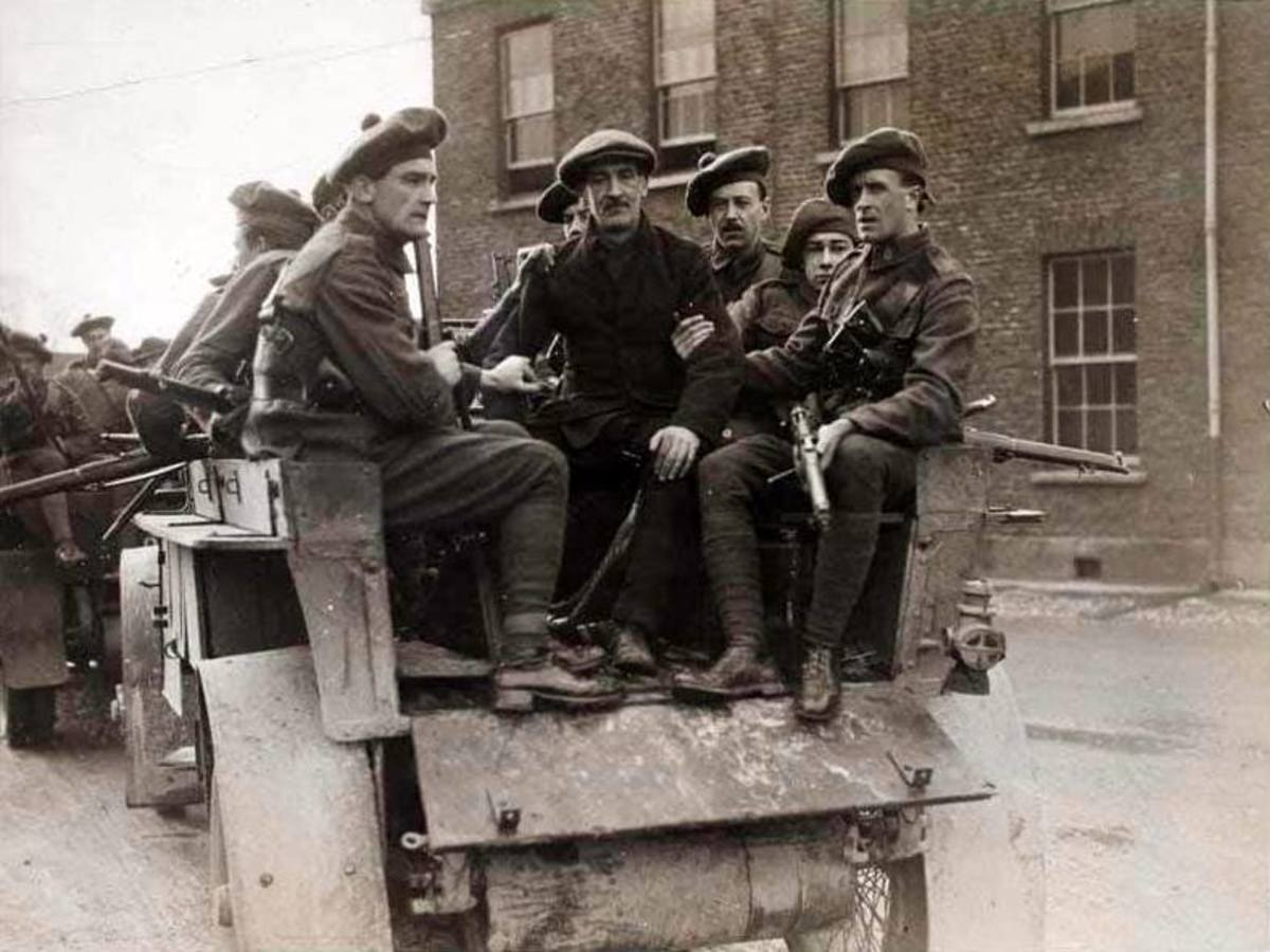 The people of Dublin feared the noise of the lorries carrying the Black and Tans